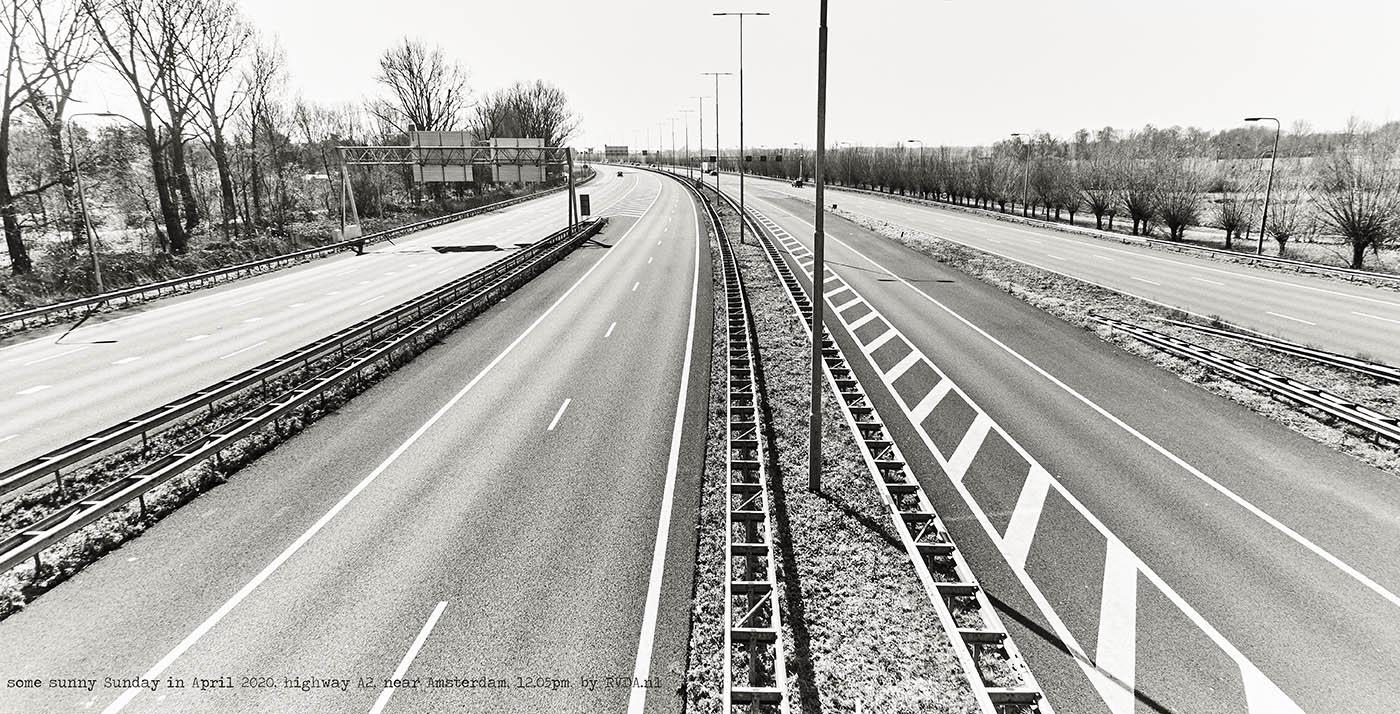 Covid-19-Corona-20-04-05-Amsterdam-by-RVDA-L1017629-snelweg-A2-txt