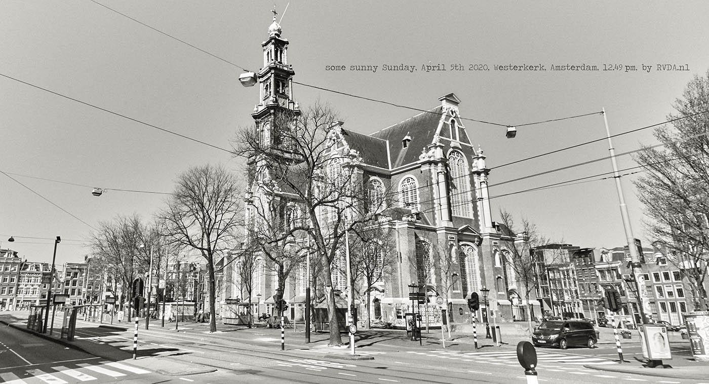 Covid-19-Corona-20-04-05-Amsterdam-by-RVDA-L1017691-Westerkerk-txt