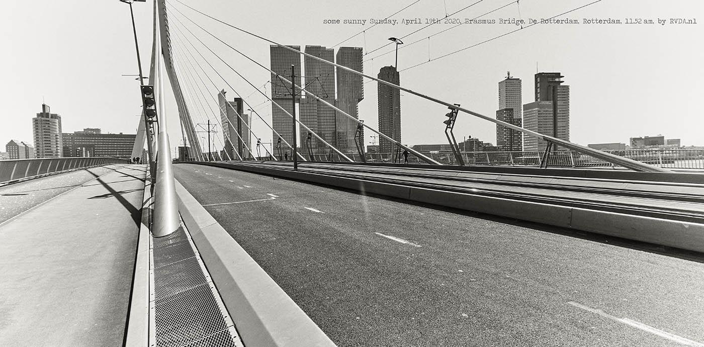 Covid-19-Corona-20-04-19-Rotterdam-by-RVDA-L1017843-Erasmus-Bridge-De-Rotterdam-txt