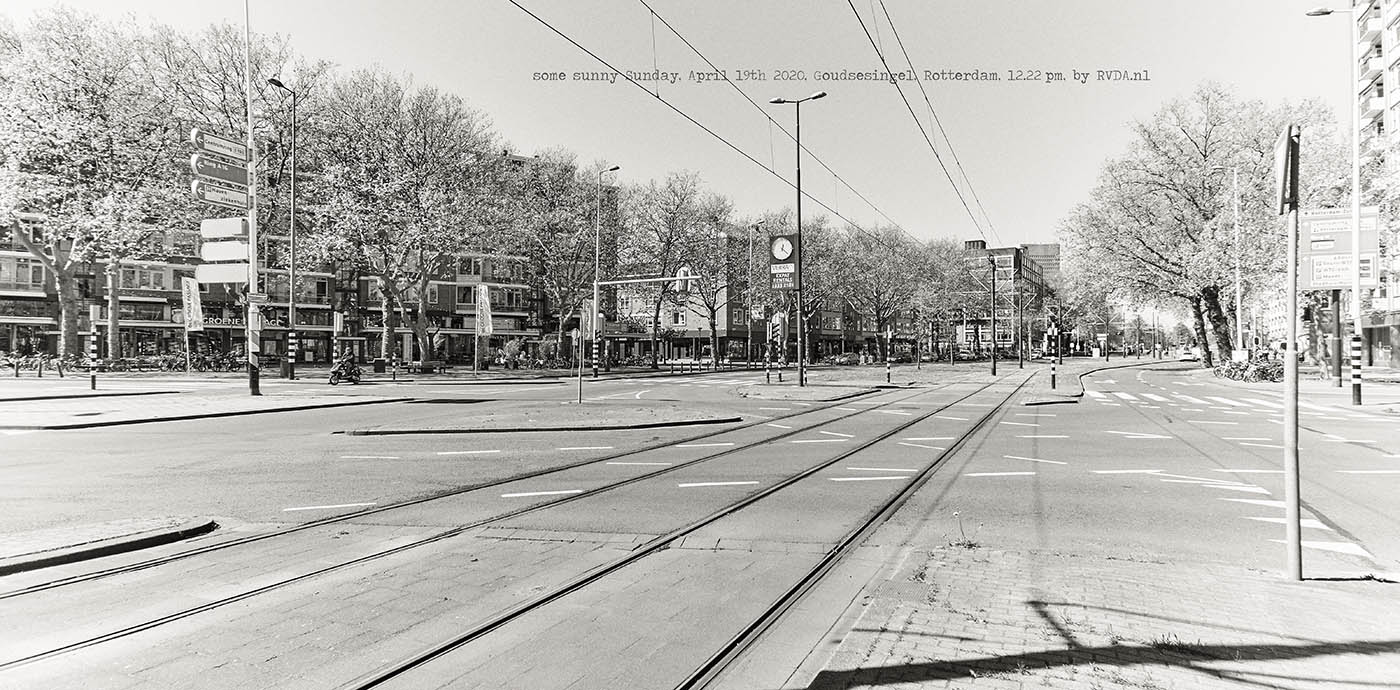 Covid-19-Corona-20-04-19-Rotterdam-by-RVDA-L1017913-goudsesingel-txt